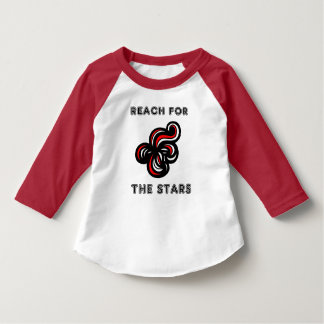 """Reach for the Stars"" Toddler 3/4 Sleeve Raglan T- T-Shirt"