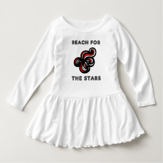 """Reach for the Stars"" Toddler Ruffle Dress"