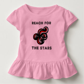 """Reach for the Stars"" Toddler Ruffle Tee"