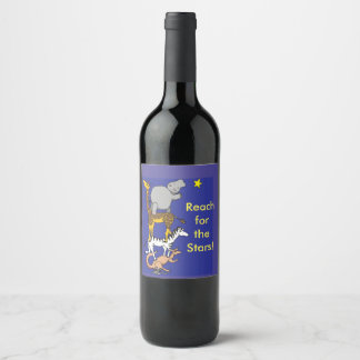 Reach for the stars wine label
