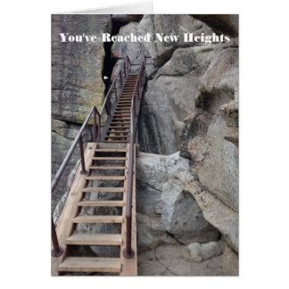 Reach New Heights Congratulations Card