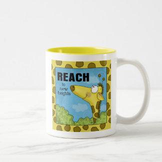Reach to New Heights Giraffe Two-Tone Coffee Mug