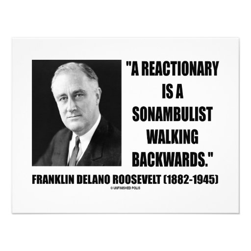 Reactionary Sonambulist Walking Backwards Invites