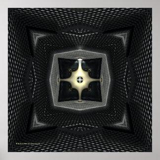 Reactor Sci-Fi Gothic Kaleidoscope Poster