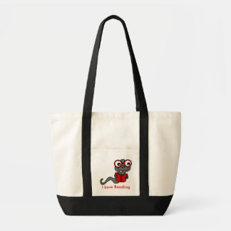 Read a Book Month: I Love Reading Tote Bag