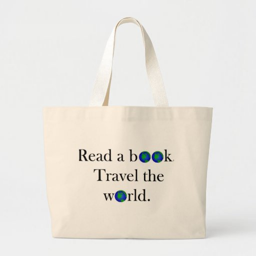 Read a book Travel the World Jumbo Tote Bag