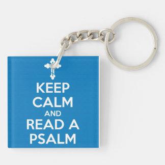 Read A Psalm Acrylic Keychain