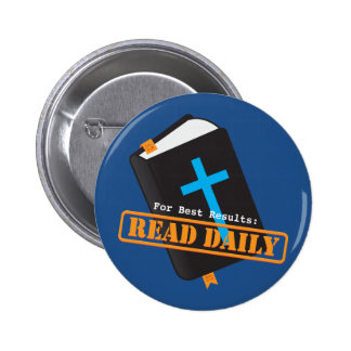 Read Bible Daily Christian 2 Inch Round Button