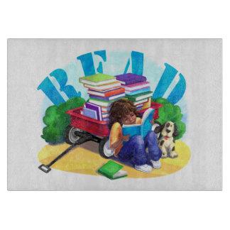 READ Book Wagon Art Cutting Boards