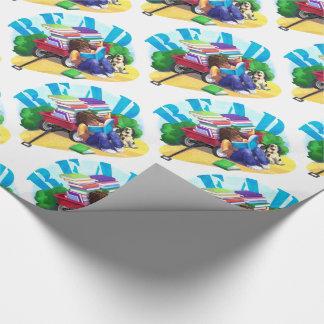 READ Book Wagon Art Pattern