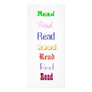 Read! Bookmark Rack Card