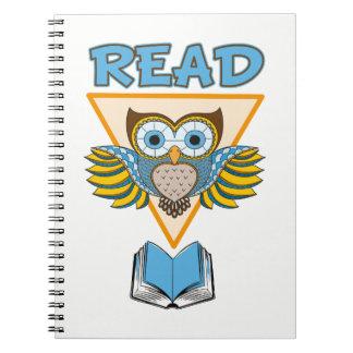 Read Books Blue Gold Owl