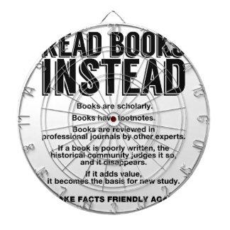 Read Books Instead, Make Facts Friendly Again Dartboard