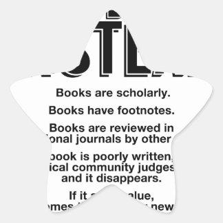 Read Books Instead, Make Facts Friendly Again Star Sticker