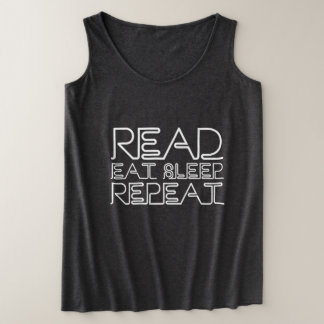 Read, Eat, Sleep, Repeat Plus Size Tank Top