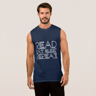 Read, Eat, Sleep, Repeat Sleeveless Shirt