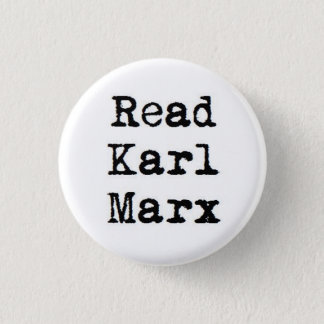 Read Karl Marx 1 Inch Round Button