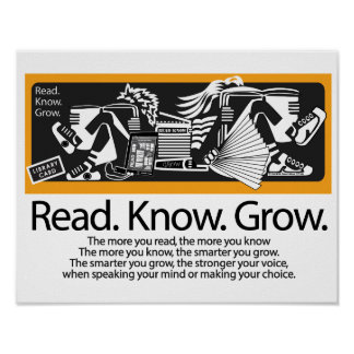 READ. KNOW. GROW. POSTER