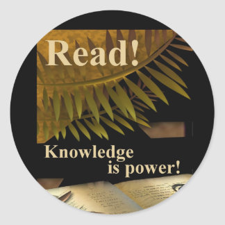 Read! Knowledge is Power Sticker