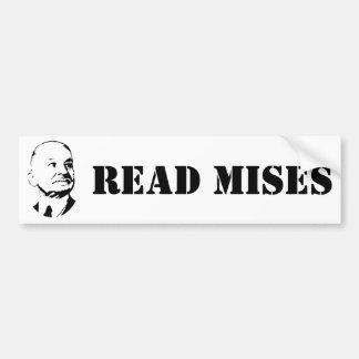 Read Ludwig Von Mises Austrian Economist Bumper Sticker