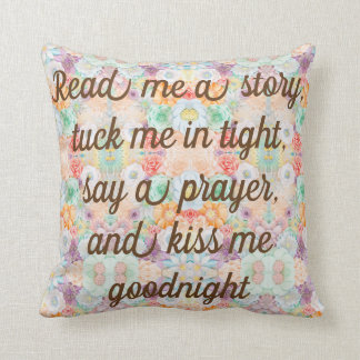 Read Me A Story Tuck BLUE teen Pillow REVERSIBLE