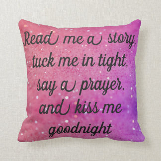 Read Me A Story Tuck Me In PINK Pillow REVERSIBLE