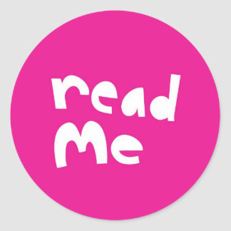 Read me classic round sticker