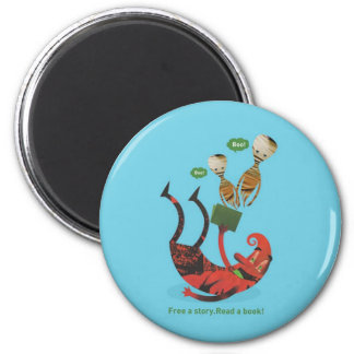 Read more books 2 inch round magnet