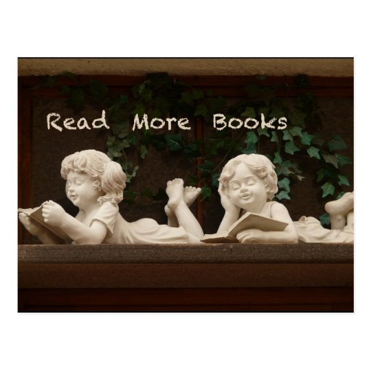 Read More Books Postcard