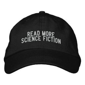 read more science fiction embroidered hat