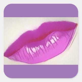 Read My Lips! No Boring Gift Wrap! Square Sticker
