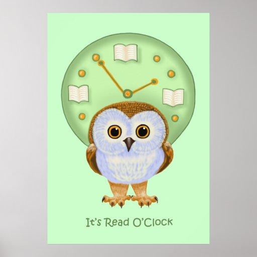 Read O'Clock Poster