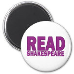 Read Shakespeare 2 Inch Round Magnet