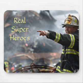 Read Super Heroes, Firefighter at 911 Twin Towers Mouse Pad