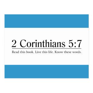 Read the Bible 2 Corinthians 5:7 Postcard