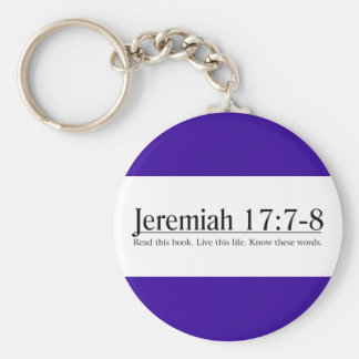 Read the Bible Jeremiah 17:7-8 Keychain