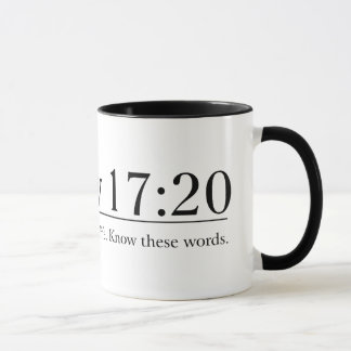 Read the Bible Matthew 17:20 Mug