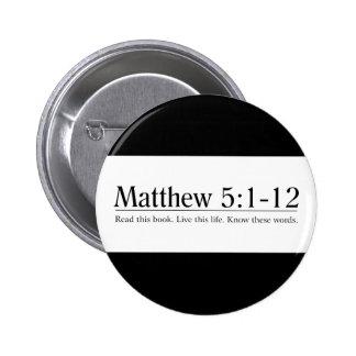Read the Bible Matthew 5:1-12 2 Inch Round Button