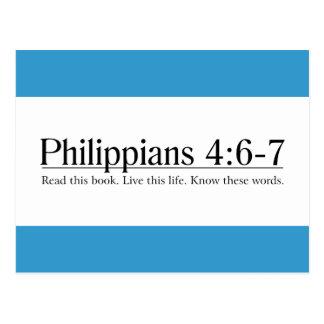 Read the Bible Philippians 4:6-7 Postcard