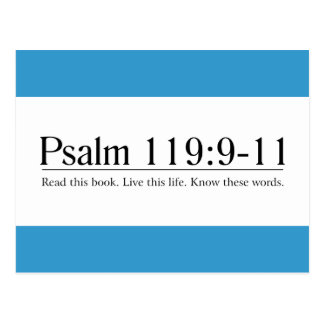 Read the Bible Psalm 119:9-11 Postcard