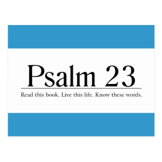 Read the Bible Psalm 23 Postcard