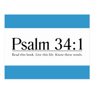 Read the Bible Psalm 34:1 Postcard