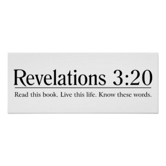 Read the Bible Revelations 3:20 Poster