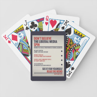 Read The Memo Bicycle Playing Cards