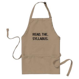 read the syllabus standard apron