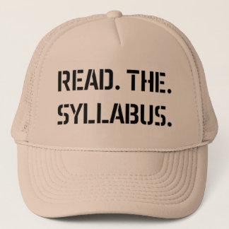 read the syllabus trucker hat