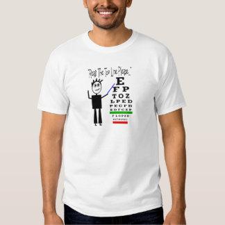 """Read the top line please""--Eye Chart Design Tshirts"