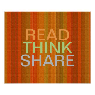 Read Think Share Poster