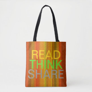 Read Think Share Tote Bag