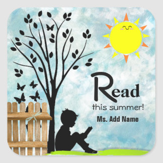 Read This Summer Customized Teacher Stickers